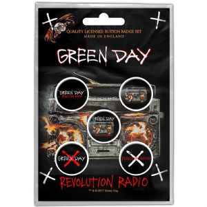 Green Day Revolution Radio 5 Pin Badges in Pack (ro)